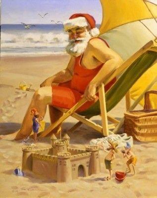 Le Père Noël en vacances...